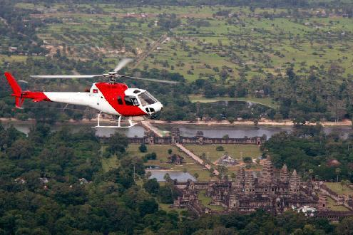 Cambodia Helicopter Tour